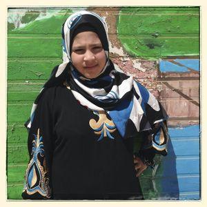 Portrait of Samar* in Za'atari refugee camp