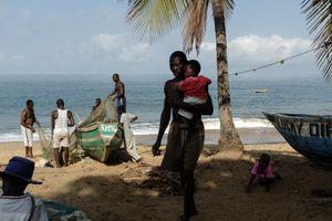 A small fishing community at Lakka beach