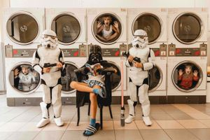 laundry day with star wars
