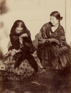 Alphonse Delaunay Types femmes espagnoles, 1854. © Collection particulière