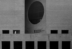 Brutalist Architecture and Minimal Person