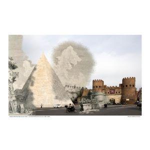 Piramide di Cestio  [Le Antichitá romane III] circa 1784 / 2016