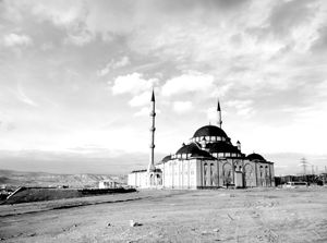 Mosque overlooking the textile factories in Kayseri.