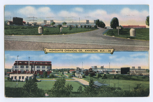 Postcard of the former Monsanto® factory in Anniston from 1936.