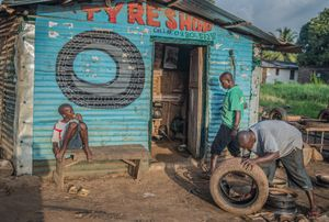 Tyre Shop, Robertsport, Liberia