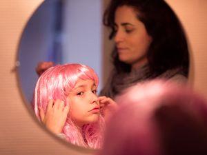 Pink wig little girl #1