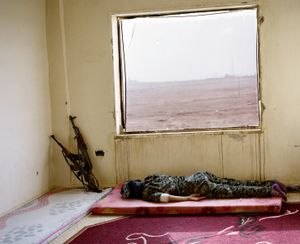 Two stand still. Kobani, Syria.