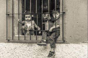 Guatemalan Children in Window