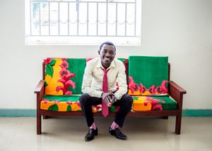 Adonis, founder of YAREN – the Young African Refugees Entrepreneurs Network in Uganda