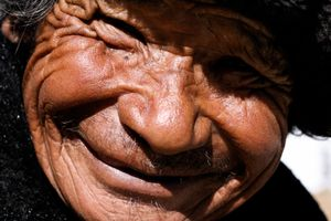 You know...these wrinkles come from years of smiles!