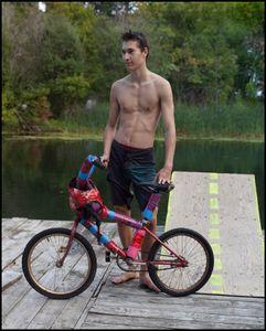 Russel ramp bike jumping