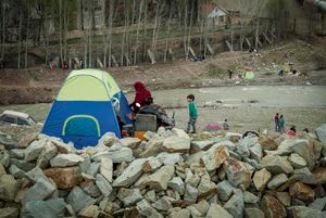 Afghan refugee family at the picnic (Tehran countryside)