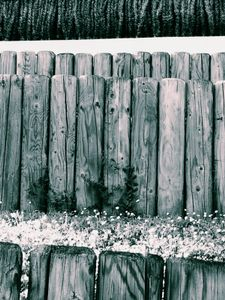 Wooden Posts and Grass 1