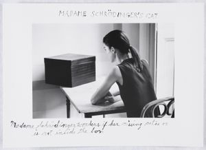 """Madame Schrödinger's Cat, 1998. From the series """"Quantum"""" © Duane Michals; The Henry L. Hillman Fund. Courtesy of Carnegie Museum of Art, Pittsburgh"""