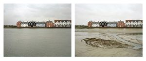 Grand Prize Winner, Portfolio Category Lens Culture International Exposure Awards 2011 Wivenhoe, Essex. 22 and 23 March 2007. High water 4:15 pm, low water 9:30 am, from the series Sea Change © Michael Marten