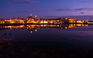 Valetta night skyline
