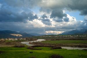 Landscape with Great Zab River near Barzan