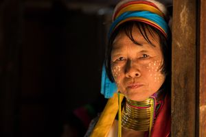 Traditional Woman from Inle Lake