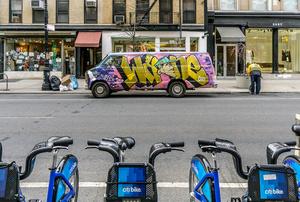 Graffitied Van