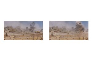 Syrian Tank Explodes - crew survives