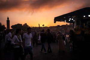 Sunset on Djemaa El Fna