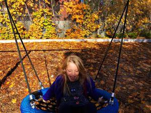 nico on the swing