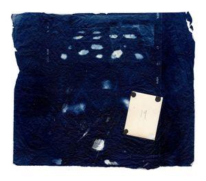 Hidden Memory 21. Cyanotype + collage. 40 x 50 cm