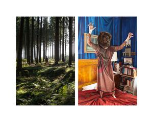 """Bear Girl in forest & Bear Girl in bedroom"""