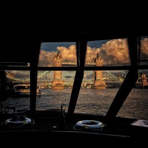 Tower Bridge  from a pleasure river boat