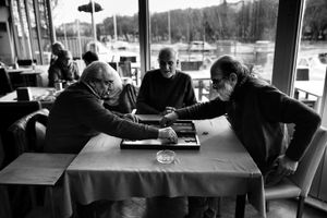 The backgammon in the  Cafe Creek.