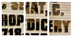 HOP DIC ERY, Northwest View, 7.28.15, 7:50-7:56pm, 2015, Pigment prints, 23.25 x 15.5 inches (each), 23.23.25 x 46.5 inches (triptych)