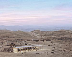Tents, Dragot (Sunset over the Judean Desert), 2016