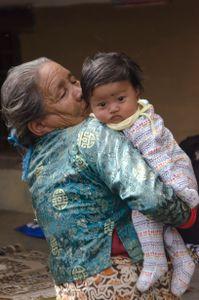 Yuki with her grandmother
