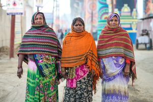 Beautiful ladies wearing beautiful outfit in Allahabad, India