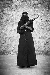 """Benifet Ikhla, 27 years old, widow with 6 children: """"I fight for life and freedom, I fight to prove that woman and man are equal."""" © Sebastiano Tomada"""