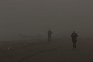Runners at Caspian sea.