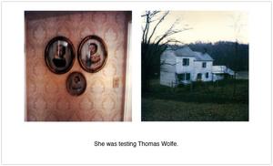 She was testing Thomas Wolfe.