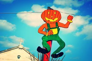 Pumpkin Stand Decoration, Washington, D.C.