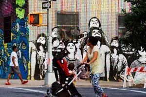 Graffiti painting, Williamsburg.