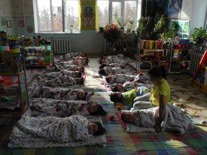 naptime at the kindergarten, Mongolia