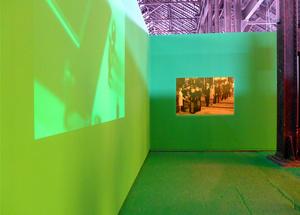 Display chroma film studio 'Los últimos días vistos del rey.' Arles, July 2015
