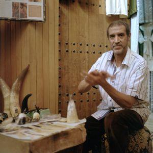 Homemade horns maker, Layni Mohammed, Fès, Morocco