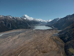 Fox Glacier, New Zealand. The glacier is a stunning (and worrisome) example of glacial retreat.