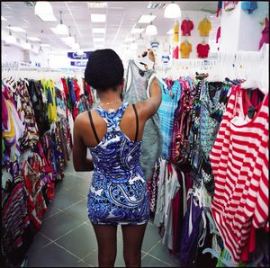 Cristal shopping for clothes in nearby Puerto Plata