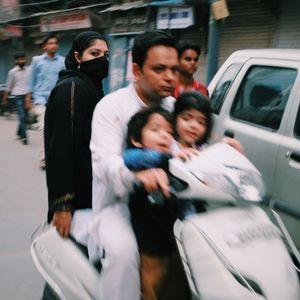 Traveling to Jama Mashid, New Delhi, India.