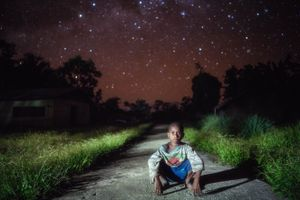 Petrus, the Hunter's son. Sonambru Village, Papua.