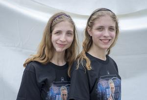 Twins Days 2015. Hannah and Maegan Scheib (17), both play the violin.