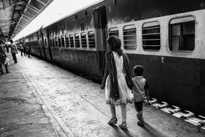 IMPRESSIONS AT THE OLD DELHI RAILWAY STATION 23