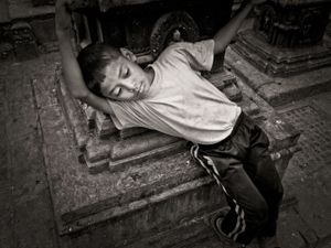 Boy at Swayambhunath