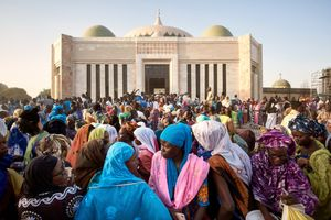 february 22, 2018. At the mausoleum of Sokhna Mame Diarra Bousso (1833-1866), the mother of the Senegalese Sufi-Saint Amadou Bamba. thousands of believers gather once a year for a pilgramage, called Magal. Mame Diarra is the only woman the Senegalese dedicate a pilgrimage. Mame Diana Bousso´s status in Senegal can be compared to the role of the holy mother Mary in Christianity.